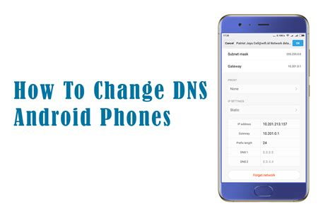 change dns android smart cell phone repair