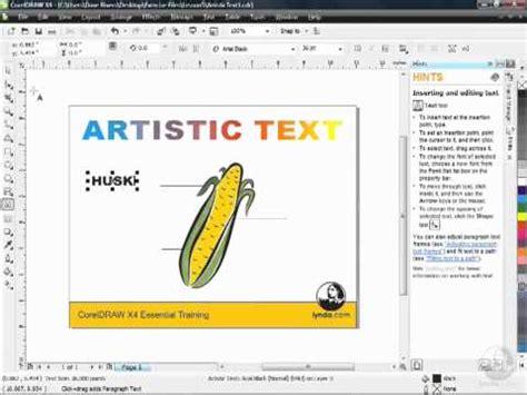 tutorial corel draw x4 text corel draw x4 tutorial text effects part i youtube