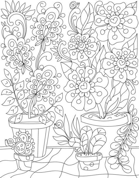 coloring pages for adults garden 186 best coloring garden images on pinterest adult