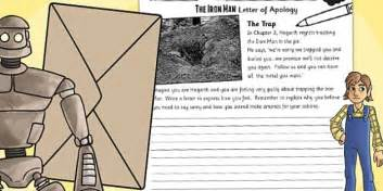 Apology Letter In Kiswahili The Iron Hogarths Letter Of Apology Writing Activity Write