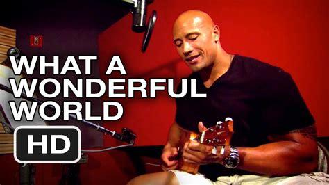 dwayne the rock johnson ukulele what a wonderful world journey 2 the mysterious island dwayne johnson quot what a