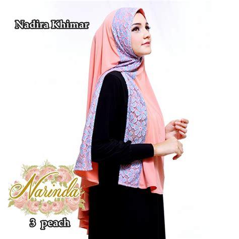 Model Khimar jual nadira khimar by narinda toko jilbab branded