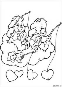 coloring care bears fishing heart coloring