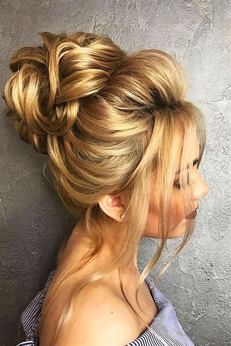 hairstyles blonde mesh chignon 18 gorgeous wedding bun hairstyles see more http www