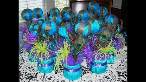 diy wedding peacock decorations ideas