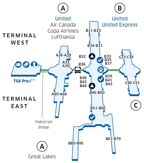United Check In Baggage by Denver International Den Airport Map United Airlines