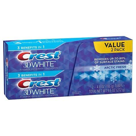 Origginal A P 2 4 Whitening Toothpaste Original Pasta Gigi A P 2 4 crest 2pk 3d white arctic fresh whitening toothpaste icy cool mint 4 8oz target