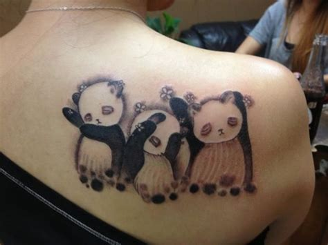 panda tattoos 25 awesome panda ideas