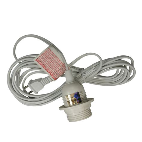 Pendant Light Cord Kit Single Socket Pendant Light Cord Kit For Lanterns 15ft Ul Listed White On Sale Now Patio