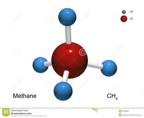 Modelo Aislado 3d De Una Mol 233 Cula Del Metano Stock De Colorante Formula Quimica L