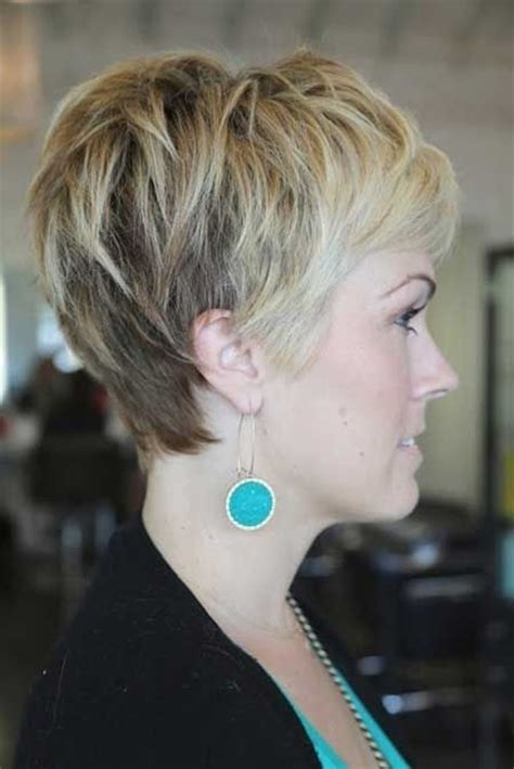 pixie haircuts women thick hair front and back view of same pictures of short shaggy hair cuts back and front view