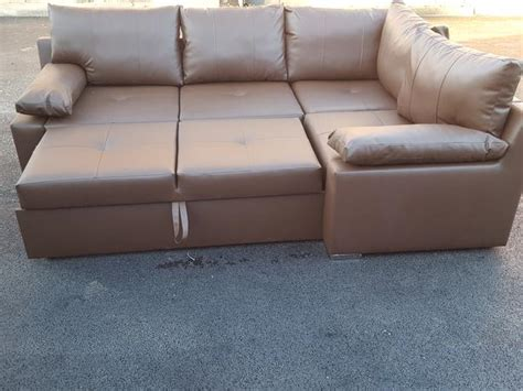 Brown Leather Corner Sofa Bed Brand New Brown Leather Corner Sofa Bed With Storage Can Deliver Sandwell Dudley
