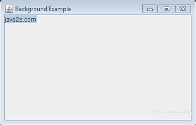 java swing background image index of tutorials javaimage swing jtextarea
