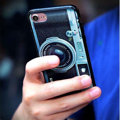 Casing 2 3 4 Softcase casing softcase motif kamera iphone 7 8 black