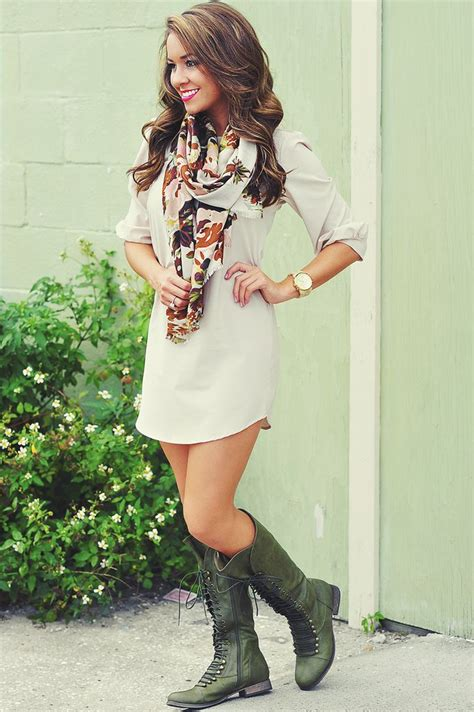 dress with boots coat front lace boots and dress