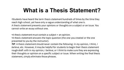thesis statement 28 where is a thesis statement how to write an a