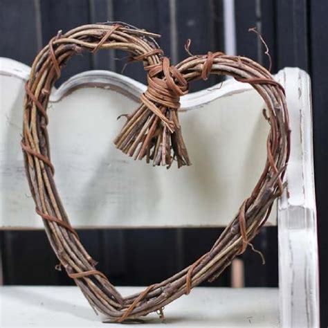 natural twig grapevine heart shaped wreaths for your decorating and craft new