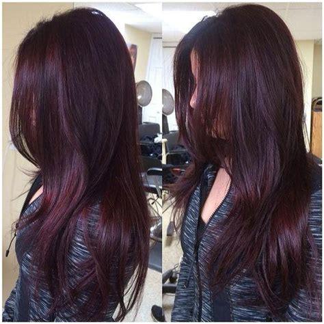 pinterest rich violets reds browns long hair fryzury 2017 przegląd najmodniejszych kolor 243 w włos 243 w