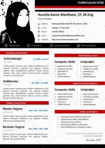 Curriculum Vitae Bahasa Inggris by Desain Cv Kreatif Contoh Cv Bahasa Inggris