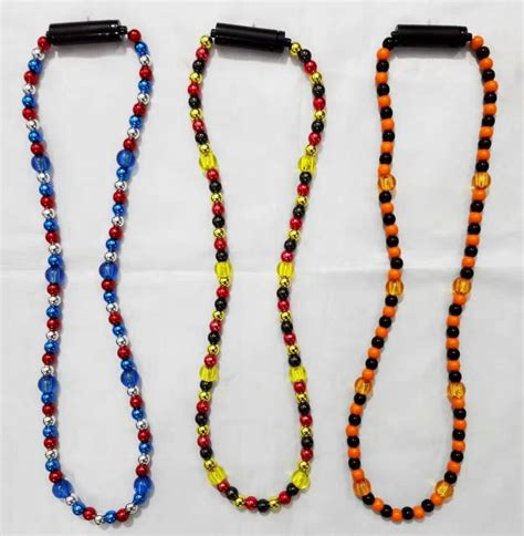 light up led bead necklaces lighting