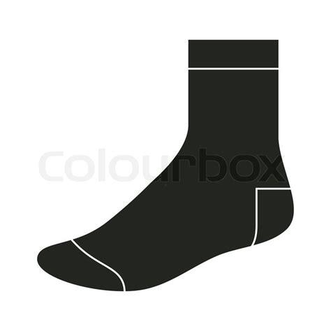 socks vector black sock template stock vector colourbox