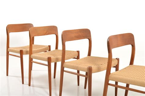 Dining Chairs Set Of 4 Dining Chairs By Niels O M 248 Ller Set Of 4 For Sale At Pamono