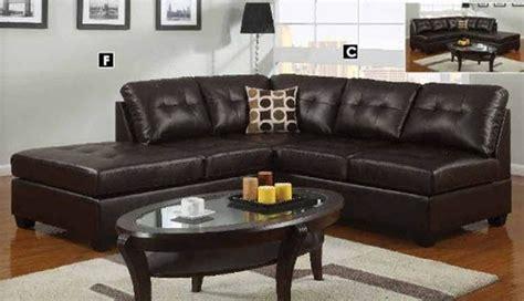 poundex furniture u shaped modular leather sectional