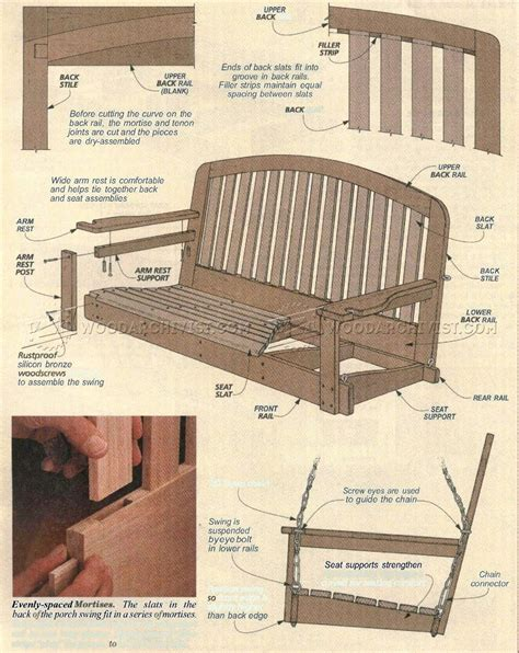 woodworking plans porch swing diy garden furniture plans free
