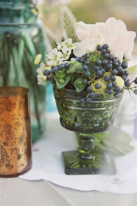 Used Wedding Vases by Vintage Glasses Used As Vases For Centerpieces Decor