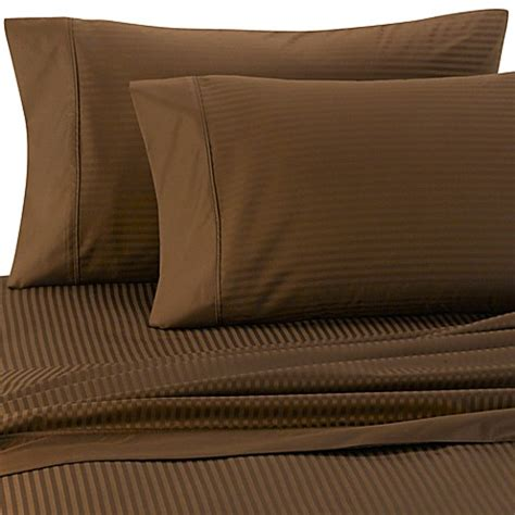 egyptian cotton sheets bed bath and beyond buy palais royale 630 stripe 100 egyptian cotton sheet