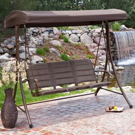 lawn swing with canopy 9 cool and cozy patio swing with canopy designs