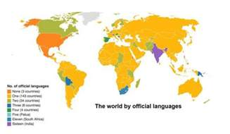 how many countries as an official language these countries the most official languages world