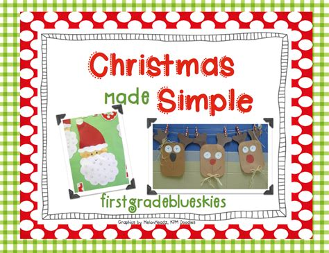 christmas crafts for 1st graders easy craft pack giveaway simple reindeer glyph grade blue skies