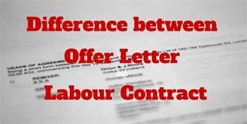 Appointment Letter For Contract Labour Difference Between Offer Letter And Labour Contract