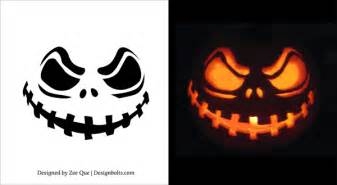 free printable scary pumpkin carving pattern designs pumpkin patterns