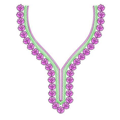 neck embroidery design pattern flower neckline embroidery design 10x12