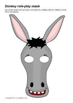 printable animal masks donkey donkey role play masks for balaam lesson balaam