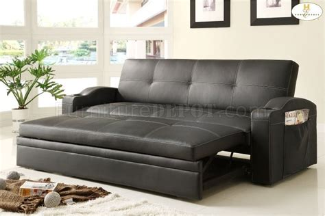 couch trundle novak elegant lounger sofa 4803blk by homelegance w pull