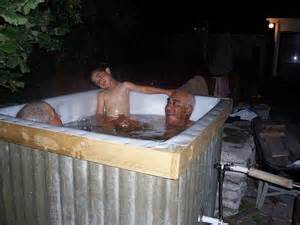 make a bathtub how to build a wood fired hot tub