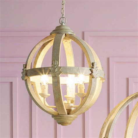 Large Wooden Orb Chandelier Wooden Orb Three Light Chandelier By Cowshed Interiors