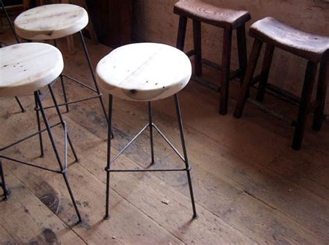 bar stools wooden legs reclaimed wood bar stools with metal legs reclaimed wood