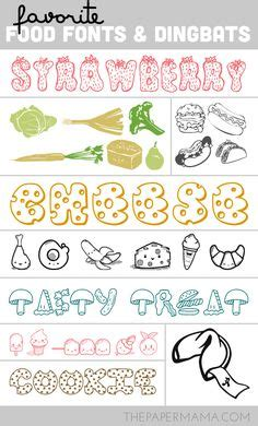 printable food fonts crafts fonts printables on pinterest