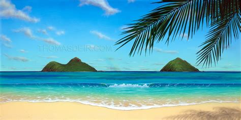 tropical beach paintings day archive thomas deir