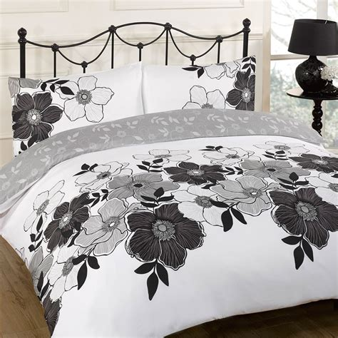 Black White Quilt Covers Duvet Quilt Cover Bedding Set Black White Single