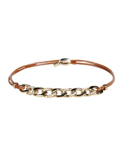 Fossil Bracelet fossil bracelet in brown lyst