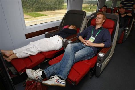 airlines with fully reclining seats beijing to shanghai fast train on board china s flagship
