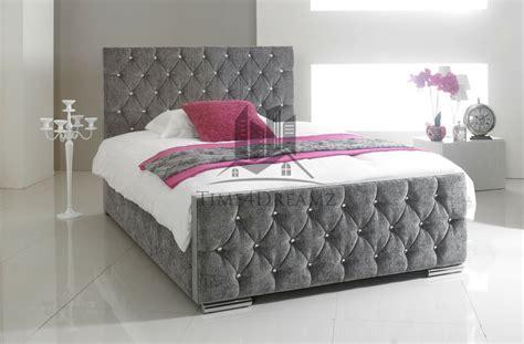 Grey King Bed Frame by Florida Fabric Upholstered Bed Frame Grey 4 6
