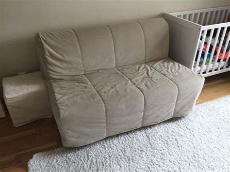 delivery couch beige ikea lycksele double sofa bed settee futon couch