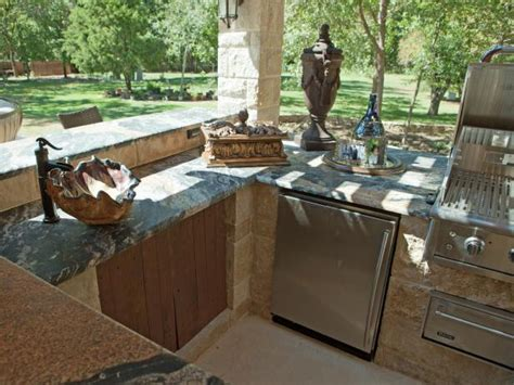 outdoor kitchen countertop ideas outdoor kitchen cabinet ideas pictures ideas from hgtv