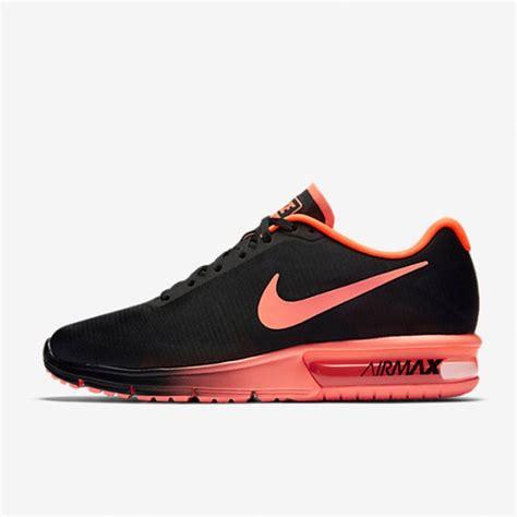 jual sepatu sneakers nike air max sequent black crimson